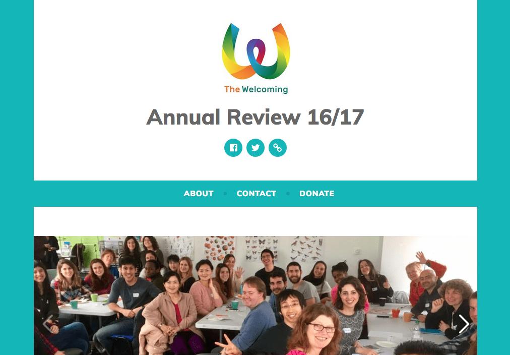 Welcoming Annual Review screenshot