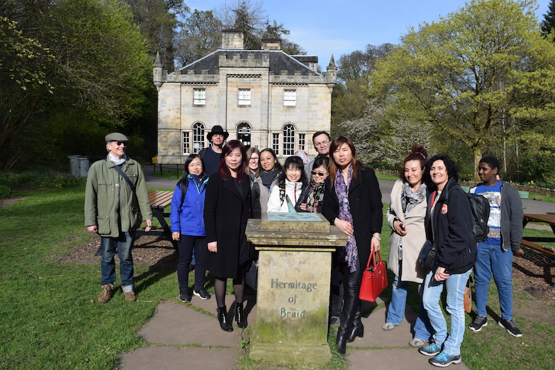 Group at the Hermitage of Braid