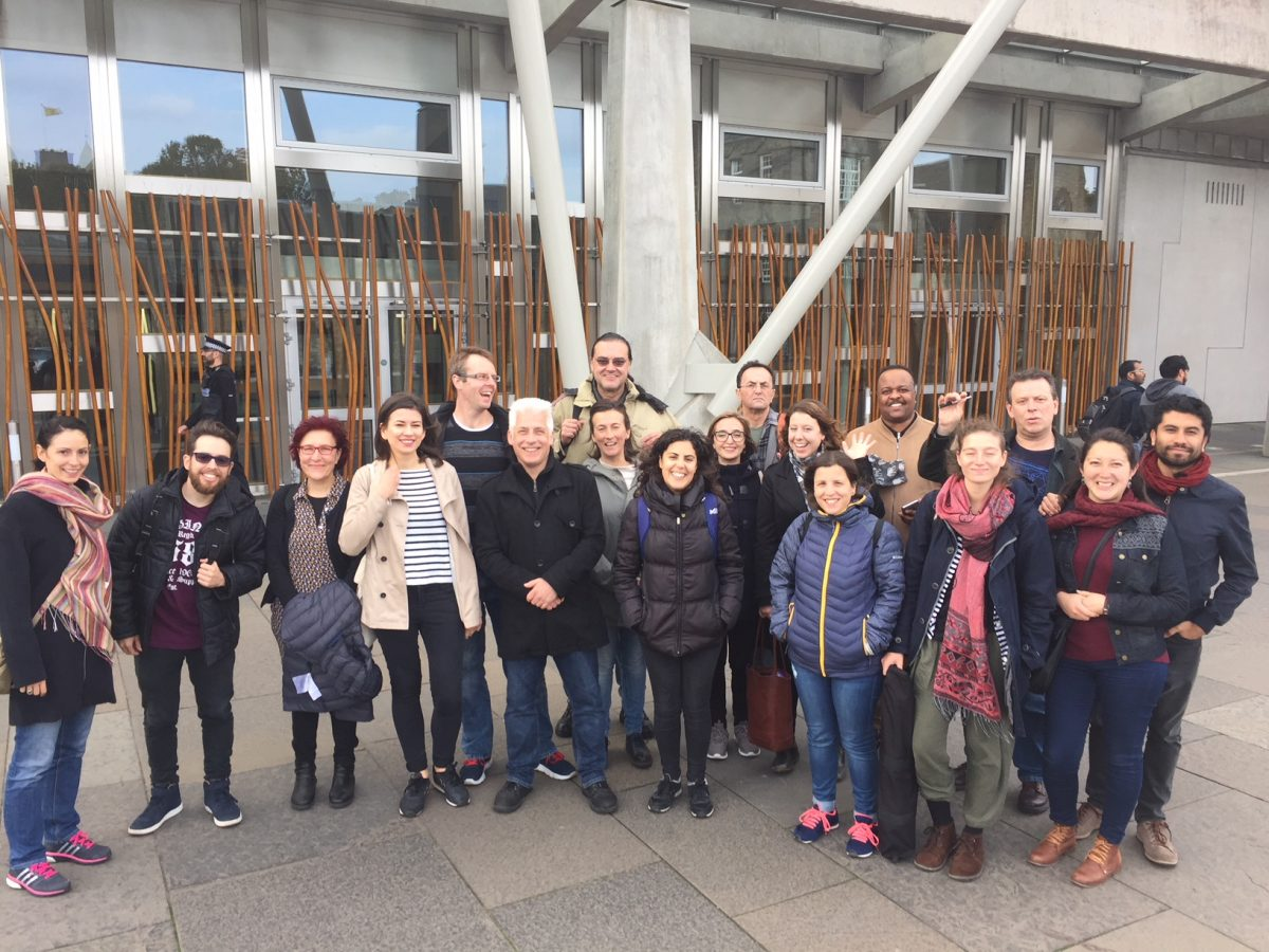 Scotland for Newcomers outing to the Scottish Parliament