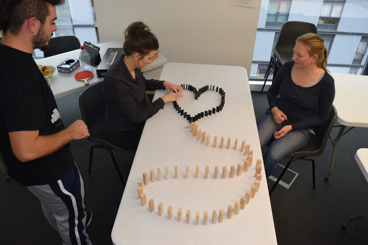Fun with dominoes at Creative Space