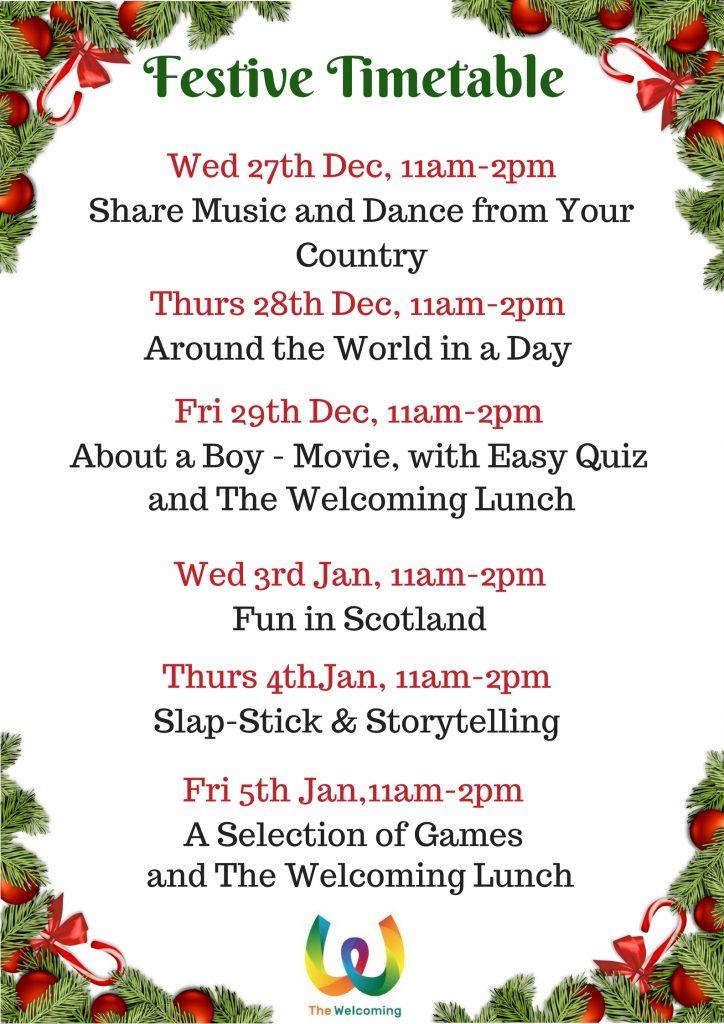 Festive Timetable