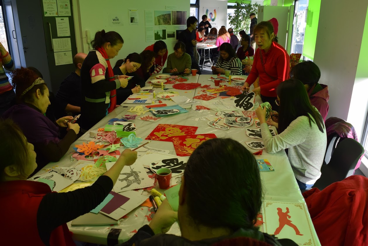 Chinese paper cutting at Creative Space