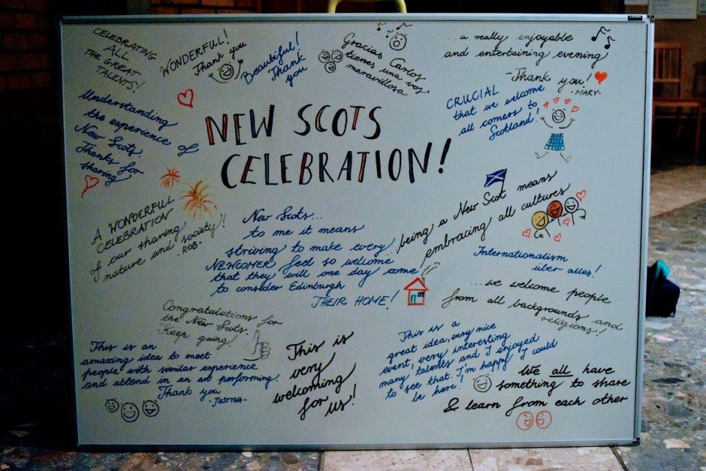 New Scots Celebration whiteboard