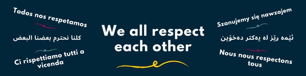 """""""We all respect each other"""""""